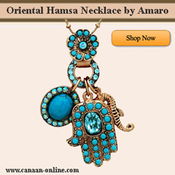 Oriental Hamsa Necklace by Amaro Jewelry
